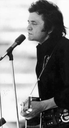 Johnny Cash singing at McAlester Prison in the 60's or 70's.