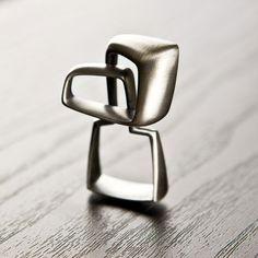 Gustavo Delgado Ring: Isofacto, 2012-2013 Silver Oxidized