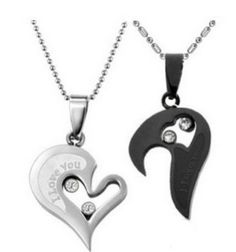 Couples Heart Pendant Necklace - Great for Valentines Gift!  http://simpleethrifty.com/couples-heart-pendant-necklace-great-valentines-gift/