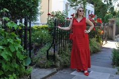 Hot Weather Dressing - The Sequinist Red Summer Dresses, Summer Outfits, Red Leopard, Beaded Sandals, High Fashion, Dressing, Weather, Hot, How To Wear