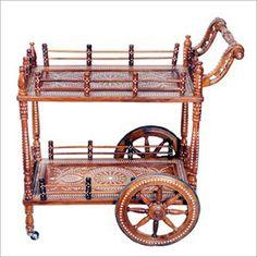 Wooden Inlaid Trolley