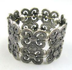 Free-Shipping-Fashion-Jewelry-Vintage-Retro-Silver-Metal-Bangle-Bracelet-BR14