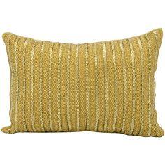 Michael Amini Beaded Stripes Lumbar Pillow | AllModern