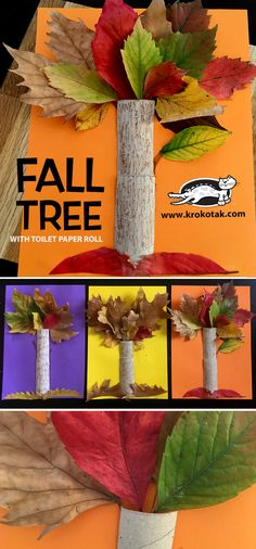 Fall Tree With Toilet Paper Roll Krokotak Fall Tree With Toilet Paper Roll Krokotak Watch Video How To Make See More Fall Tree With Toilet Paper Roll Fall Arts And Crafts, Autumn Crafts, Fall Crafts For Kids, Autumn Art, Nature Crafts, Autumn Trees, Summer Crafts, Art For Kids, Leaf Crafts