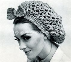 Vintage Crochet Pattern 1950s  to make a Ladies 1950's Hair Snood or Hair Net by A PDF for Immediate Digital Delivery