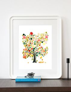 Master Tree of Life - Giclee Art Print Reproduction of Watercolor Painting by booknick (15.00 USD) http://ift.tt/1zGfVYX