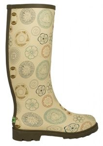 wellies with vintage button prints!