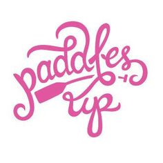 Paddles Up Decal Pink