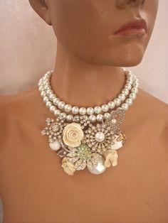 White Wedding Pearls via Etsy