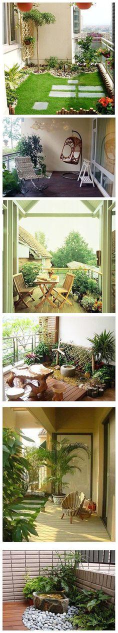 Nice, little back porches