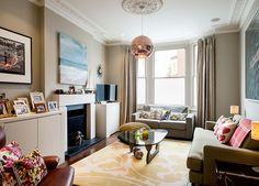 Vibrant London living room - Photo by Denim Interiors