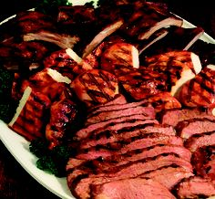Chicken, Tri-Tip from WoodRanch BBQ •  Our SuperBowl Food today!! • Yum • Tasty • Foodies • California