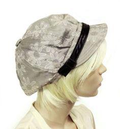 Floral Print Cabbie / Newsboy Hat - 1 $24.99