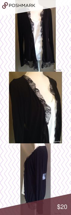 🌤 Black Maurice's Lace Cardigan Pair this cute cardigan with a top from my closet! Size: 0 Maurices Sweaters Cardigans