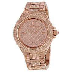 055360cfaa80 Michael Kors MK5862 Camille Rose Gold Pave Glitz Ladies Crystal Watch for  sale online