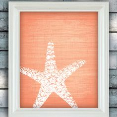 Master bathroom? Starfish Wish  Art Poster  Peach Texture  by spoiledroyalstudio, $15.00