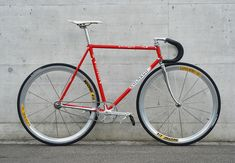 Nine pictures of beautiful fixed gear bikes, including Cinelli, Gazelle , Panasonic , Bianchi, and Cannondale fixed gear bikes