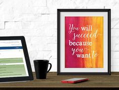 Printable Art - Printable Quote - Dorm Decor - Inspirational Quote - Instant Download - Motivational Quote - Desk Art - Wall Art Print
