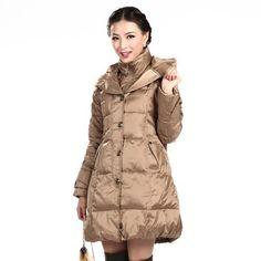 New Shuangyu Women's Winter Long Hooded Down Jacket SL9678 Bosideng. $110.01