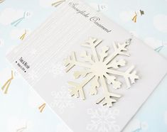 snowflake place card ornament frames place card favors and winter weddings
