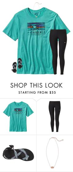 """""""watching pll"""" by secfashion13 ❤ liked on Polyvore featuring Patagonia, NIKE, Chaco and Kendra Scott"""