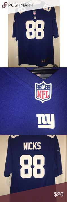 Hakeem Nicks New York Giants official NFL jersey Machine wash, screen printed name, polyester, NFL shield at collar, officially licensed, Nike Nike Shirts