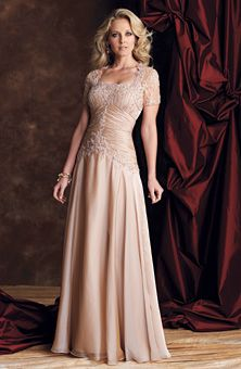 A-line Floor-length Strapless Chiffon Champagne Mother of the Bride Dress - Mother of the Groom Dress Ideas Mother Of Groom Dresses, Bride Groom Dress, Mothers Dresses, Bride Gowns, Mother Of The Bride, Wedding Party Dresses, Wedding Attire, Wedding Bride, Wedding Ideas