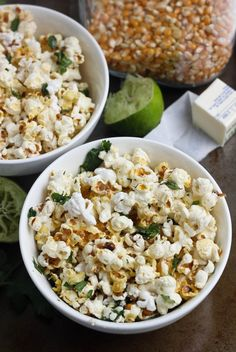 """Margarita"" popcorn. Add a pinch of salt and chili powder. Add about a tablespoon of lime zest, and your snack is complete. Include a little cilantro for extra flavor"