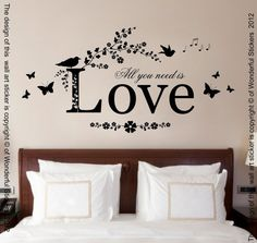 Hey, I found this really awesome Etsy listing at https://www.etsy.com/uk/listing/126408760/all-you-need-is-love-quote-vinyl-wall