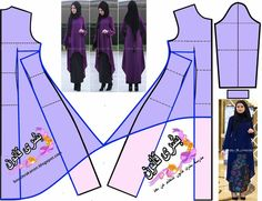 New sewing patterns skirt easy 33 ideas Skirt Patterns Sewing, Blouse Patterns, Sewing Patterns Free, Clothing Patterns, Skirt Sewing, Sewing Clothes, Diy Clothes, Mode Abaya, Hijab Style