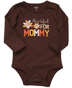 afc9d300a Carters Baby Bodysuit, Baby Boys or Girls Thankful for Mommy Bodysuit &  Reviews - Kids - Macy's