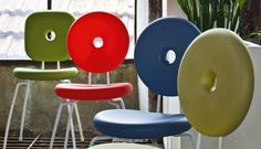 PING PONG PANG chair by Serralunga - design Paolo Rizzatto