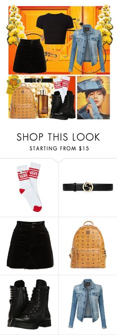 """V Inspired Look"" by lucretiak on Polyvore featuring Acqua di Parma, Getting Back To Square One, Vans, Gucci, BLANKNYC, MCM, Capezio and LE3NO"