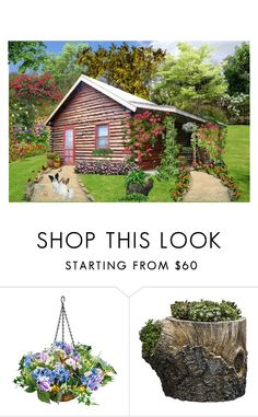 """""""The Cabin In The Woods"""" by lady-rebecca-lyn ❤ liked on Polyvore featuring interior, interiors, interior design, home, home decor, interior decorating, MAK, Improvements and Campania International"""