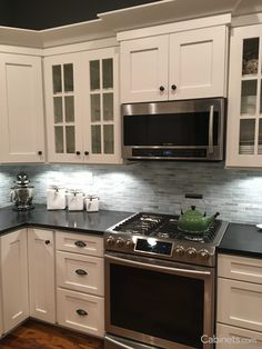 The picture feature Shaker II Maple Bright White Cabinets. Shaker Kitchen Cabinets is a timeless choice for your home!