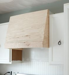 FEARFULLY & WONDERFULLY MADE: My DIY Kitchen: How I Built a Rangehood Over an Existing Cabinet