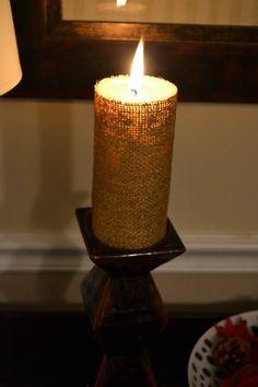 DIY Candles DIY Home DIY Crafts :DIY Pottery Barn Burlap Candle