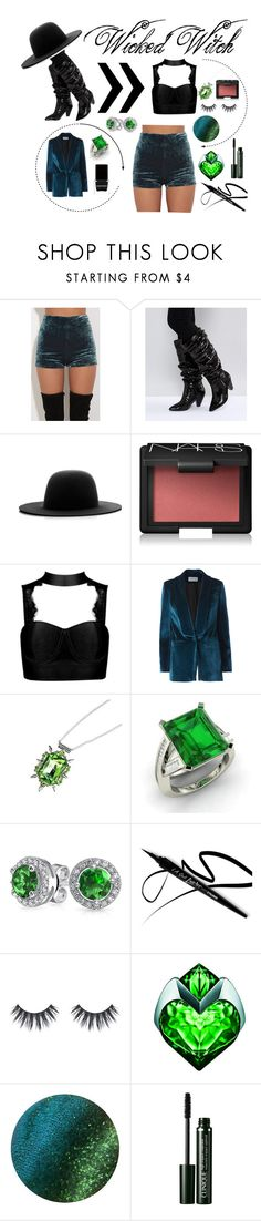"""""""Daughter of The Wicked Witch"""" by highlight1 ❤ liked on Polyvore featuring ASOS, Études, NARS Cosmetics, self-portrait, Once Upon a Time, Diamondere, Bling Jewelry, Clinique and Context"""