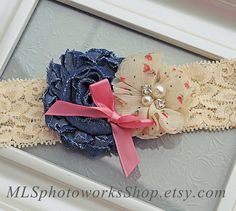 Denim Cream & Lace Country Chic Baby Girl by MLSPhotoWorksShop