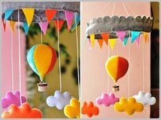 Móbile decorativo - Artesanato na Rede baby Mobile Heißluftballon
