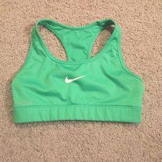 Nike pro dri fit sports bra Nike pro sports bra- only worn a few times size extra small Nike Intimates & Sleepwear Bras
