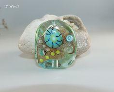 Handgewickelte Glasperle - Künstlerperle von glasswork auf DaWanda.com