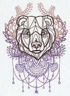 anime bear illustration
