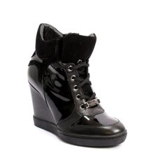 Leather / Shearling Lining Wedge Ankle Boots 20% OFF- Code PINTEREST20
