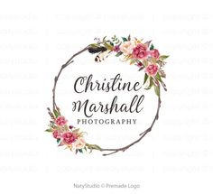 Photography Business Names Logo Products 27 Ideas Logo Floral, Flower Logo, Logo Boutique, Florist Logo, Photographer Logo, Name Logo, Photography Business, Floral Photography, Custom Logo Design
