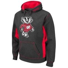 Wisconsin Badgers Men's Charcoal Mascot Hoodie