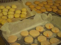 delicious home made macarons ready to be filled
