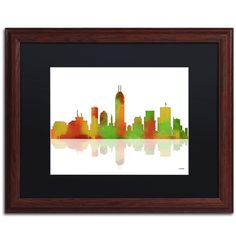 Indianapolis Indiana Skyline II by Marlene Watson Framed Graphic Art