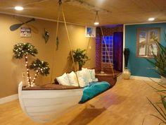 My moms beautiful basement!