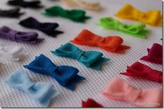 Free Felt Patterns and Tutorials: Free Felt Tutorial > Adorable Hair Bow